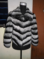 FS806129 Genuine Rex Rabbit Fur Coat Jacket Garment Shawl Chinchilla Color  Top S-3XL Plus Size Wholesale Retail OEM