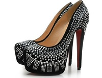 Free shipping 2013 triangular piece decoration fashion brand, ultra high heels with female party party