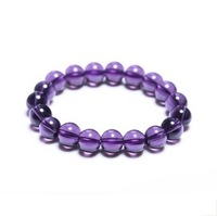 Wholesale Stone Beads Amethyst Natural Amethyst Bracelets  Free Shipping