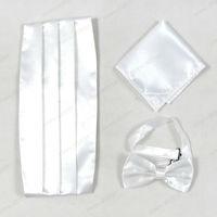 2014 Men Top Grade Christmas Gift White Cummerbund sets,Hot Sale Spring And Autumn Bow-tie,Handkerchief And Cummerbund  Sets