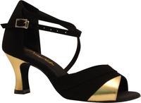 Black velvet gold PU Latin dance shoes dance shoes soft outsole women's Latin women's dance shoes