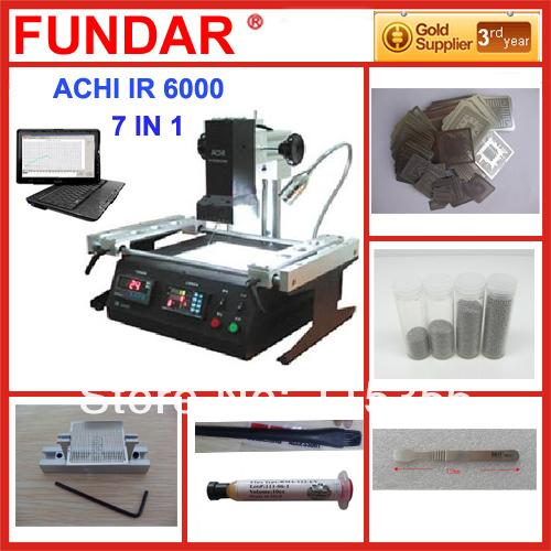 Free shipping Original ACHI IR6000 BGA Rework Station with free 6 in 1 reballing kit(China (Mainland))