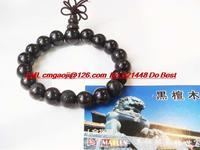 Ebony bracelets 1.2 cm Vietnam ebony ebony beads bracelet rosary Medium
