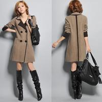 2014 Women Sweater Cardigans free Shipping Autumn And Winter Women Slim Medium-long Cardigan Luxurious Marten Velvet Big Clothes