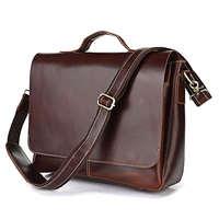 Free shipping by EMS!!2013 handmade Genuine Cow Leather Men's Briefcases Handbag Laptop Bag Messenger Bags Across Body 7108R