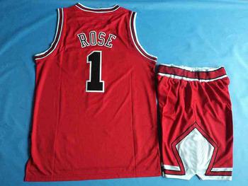 Wholesale Basketball sport wear suit ( shirt and short ), Chicago #1 Derrick Rose Men's Jersey, free shipping sportswear