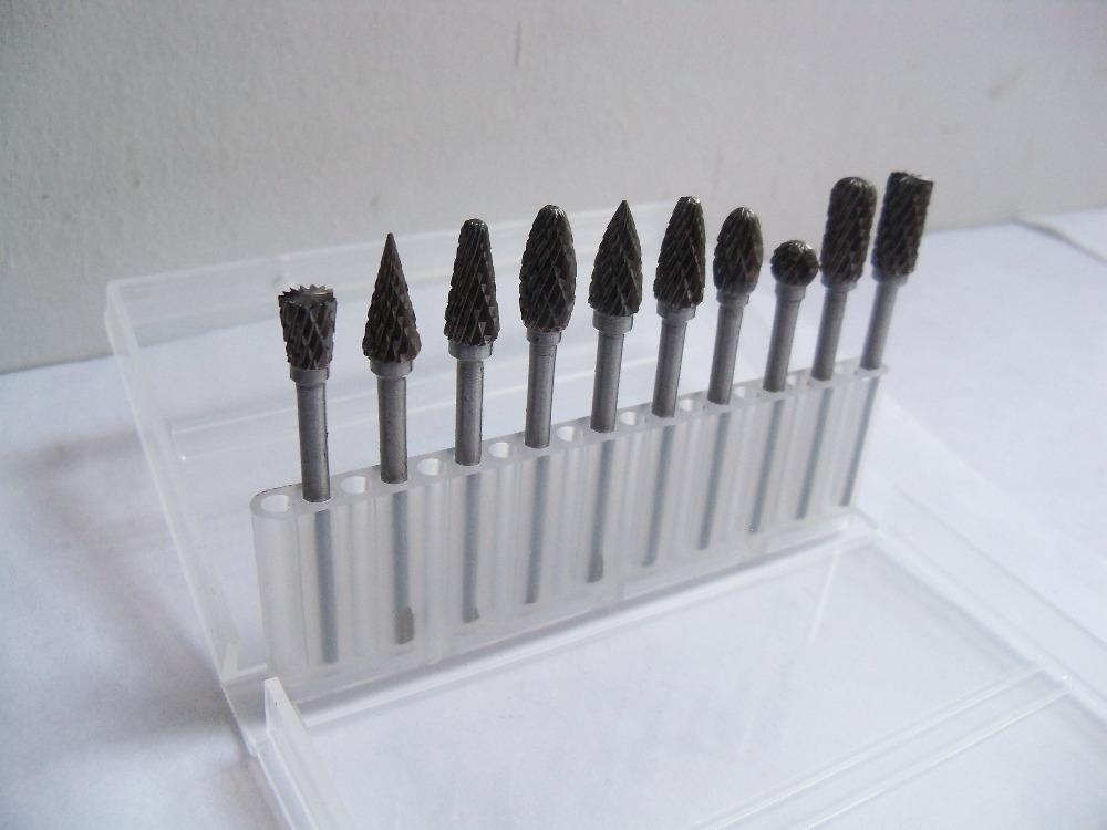 10pcs/1set Tungsten Steel Dental Burs Dental Carbide Burs 3*6mm(China (Mainland))