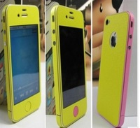 10pcs/lot Color screen  whole body protective film inculde( the side film ) Variety of colors for iphone4