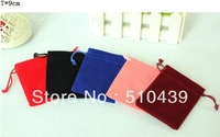Free Shipping  High Quality 50pcs/lot  7cm*9cm Flannel Gift Pouches for Jewelry Display Small Jewelry Bag