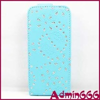 New Multicolor Crystal Diamond Flower Bling Stone Luxury Leather Case Cover Skin For Apple For Iphone 5 Cover Case