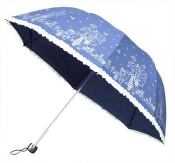 Structurein apollo three fold umbrella lovers pattern folding umbrella laciness princess umbrella sun protection umbrella