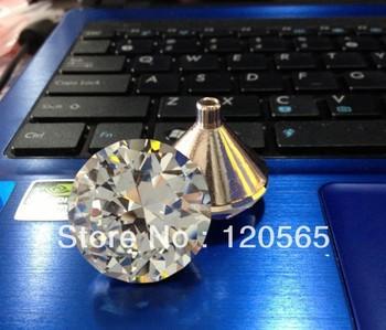 Modern hole crystal handle cabinet drawer wardrobe zinc alloy metal doorknob handle wholesale diamond