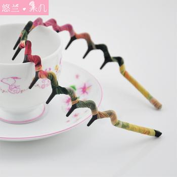 Separate hair accessory hair accessory fabric belt wavy hair bands leopard print coarse hair pin hairpin