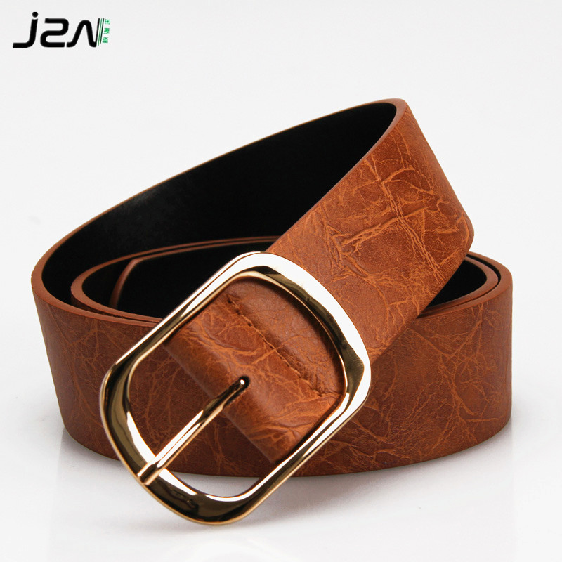 Women's pin buckle strap casual belt all-match PU belt