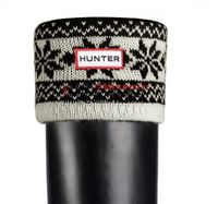 Men women winter rubber boots warm rain boots matching Knitting wool flower socks Items contains only socks
