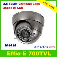 Security Dome Camera SONY EFFIO-E 700TVL 2.8-12mm Varifocal Lens OSD Menu Indoor/Outdoor CCTV Camera