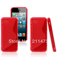20pcs/lot.Free shipping.Newest For iphone 5C S-type Soft cover, High quality S Line TPU cover case For iphone 5C