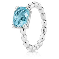 925 Sterling Silver,Cool Breeze Ring with Blue Topaz,Free Shipping