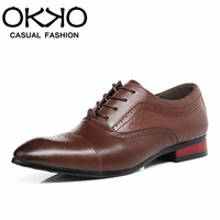 Okko autumn breathable business formal male leather male genuine leather male casual shoes fashion 86698