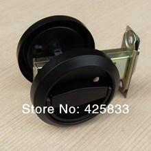 Fashion Black Stainless Steel Recessed Hood lock Cup Handle Hidden Door Locks Door Handles for Interior Doors Combination Locks(China (Mainland))
