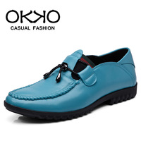 Men's male genuine leather gommini loafers casual shoes male shoes fashion shoes low-top