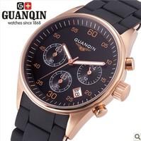 Guanqin Swiss Movement Commercial Men's Sapphire Luminous Watch Fashion Waterproof 100M Quartz 316L Steel Luxury Men Watch