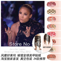 14p/pack MELODI swept Hollywood Jinyin Liang bright pink nail polish stickers exclusive debut film Decals