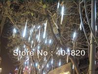 8 Tubes White Color 144-LED Meteor Shower Rain Tube Lights Outdoor Tree Decoration 100V-240V