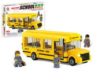 Breaker building blocks bus series school bus plastic toy assembling model 82103