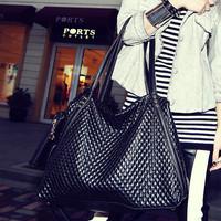 Cat bag 2014 casual street black plaid messenger bag female bags m32-010