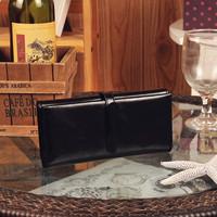 2014 women's vintage genuine leather wallet female long design wallet drawstring women's wallet women's handbag g-070