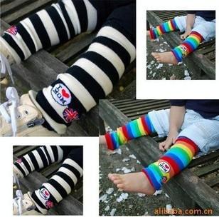 "Safe toddler kids ""love mom"" knee pad stocking children baby Leg Warmers 12pair/lot mix order Free Shipping(China (Mainland))"