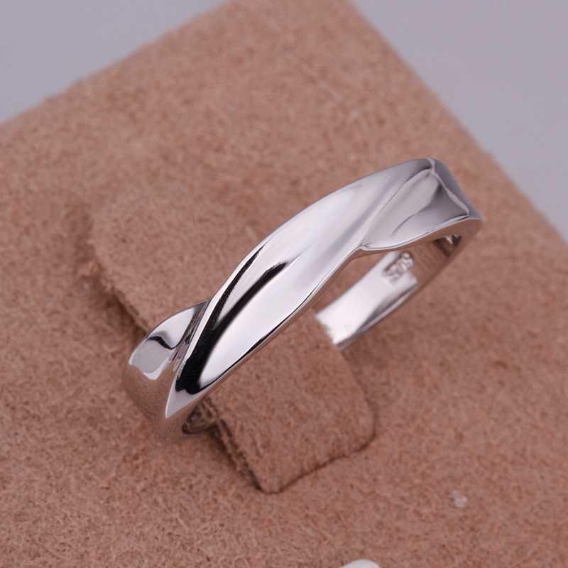 fashion platinum plated ring trendy simple ring fashion