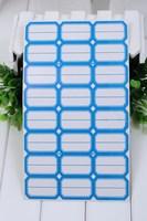 4cm*2.5cm white & blue blank sticker labels double bank price label price sticker cost price