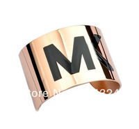 New Fashion brand Letter High quality Titanium steel  bangle bracelet free shipping wholesale/retailer
