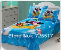 Free DHL Shipping 100% Cotton Material Hot Sale Lovelt Dreamweave Bedding Set Covers 3pcs Cartoon Bed Quilt/Sheet/Pillow Case