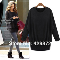 2013 New Arrival Autume Loose Batwing Sleeve Knitted Wool One Piece Dress Slim Hip Sweater Dress vestido de Camisola Free Ship