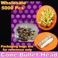 Wholesale 100pcs/pack Punk Rock Metal Alloy Cone Bullet Head Spike Studs Rivet Salon 3D Nail Art Tips Phone Design Decoration