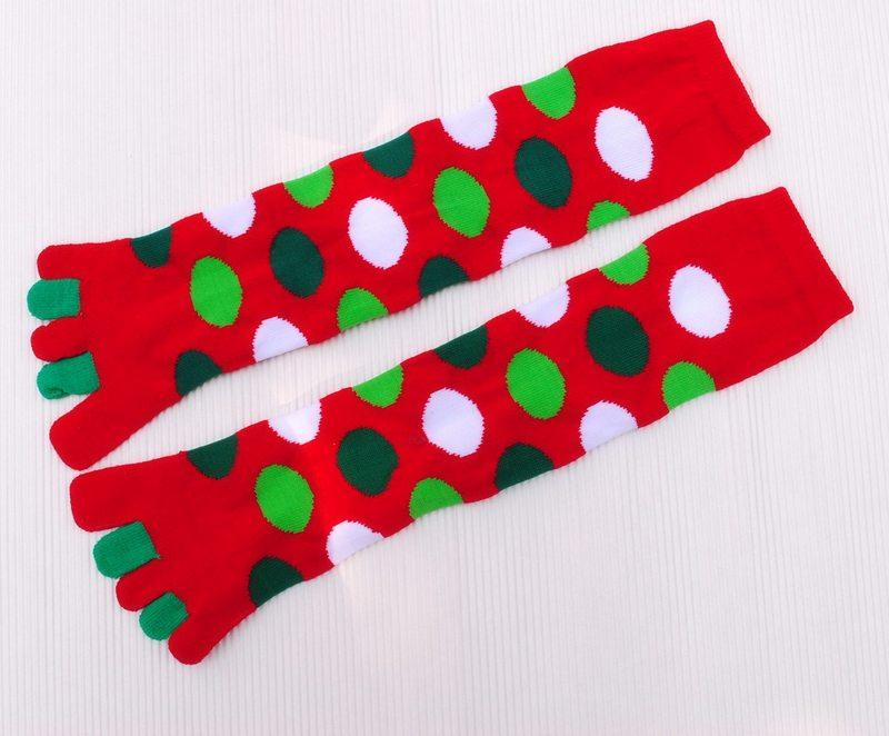 christmas five fingers socks thickening warm boots socks toe socks five-toe socks,free shipping(China (Mainland))