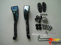 CNC Tomok Rear Side Mirrors Block Plates Black For Suzuki GSF 1200S Bandit 01-05 B