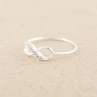 Wholesale New The Lowest Price High Quality 925 Sterling Silver Infinity Ring Endless Love Symbol Rings For Women