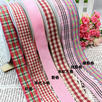 Free shipping 1'' (25mm) Plaid ribbon Polyester Scottish Style DIY haribow Accessory Gift Package 50 yards
