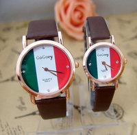 Brand watch Flag Style couple Pair watches Crystal rhinestone man women dress quartz  wristwatch High quality wristwatches go060