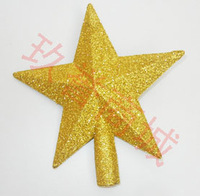 Christmas supplies christmas tree going powder tree top star five-pointed star christmas tree