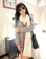 Free shipping ! 2013 New Women's fashion knit v-neck cardigan sweater