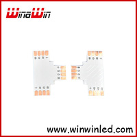 10mm width 4pin T type PCB connector, used for 10mm 5050 led rgb strip