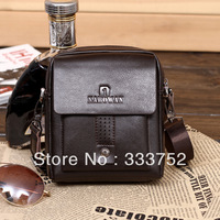 Free shipping Guaranteed 100% Cowhide man bag casual small bag genuine leather handbags messenger bag for men