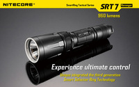Free shipping wholesale  new Nitecore SRT7 CREE XM-L (XM-L2 T6) LED 960 lumens flashlight smart selector ring Waterproof Rescue