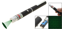 Free shipping 2 in 1 50mw green laser pointer pen with star head