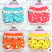 Baby friendly 13 summer female child shorts fruit pattern baby 100% cotton shorts